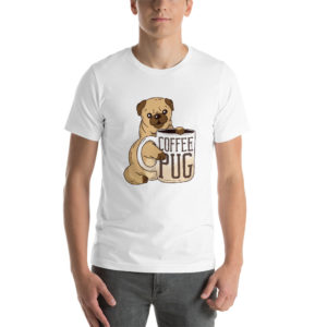 T-shirt Pug With Coffee
