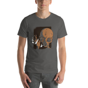 T-shirt Smoking Alien