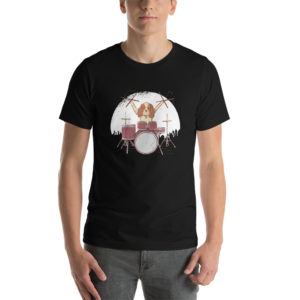 T-shirt Drummer Dog