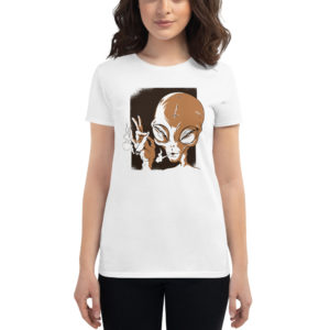 Women's T-shirt Smoking Alien