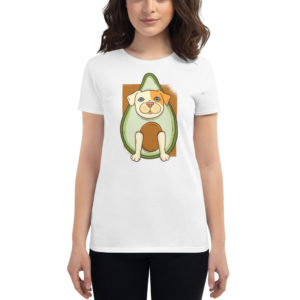 Women's T-shirt Pitbull Avocado