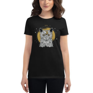 Women's T-shirt Mystic Cat