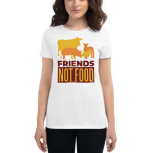 Women's T-shirt Friends Not Food